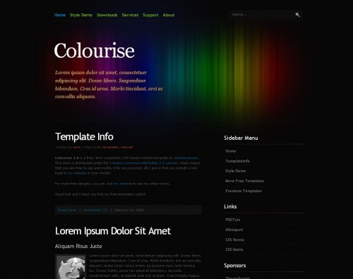 Colourise theme