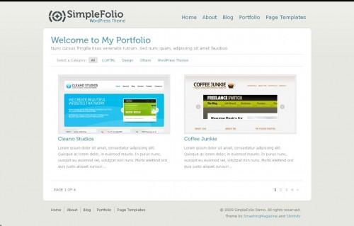 SimpleFolio Demo- Portfolio Theme