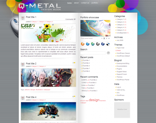 Q-Metal WordPress Theme