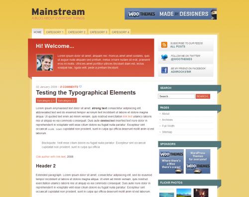 Mainstream wordpress theme