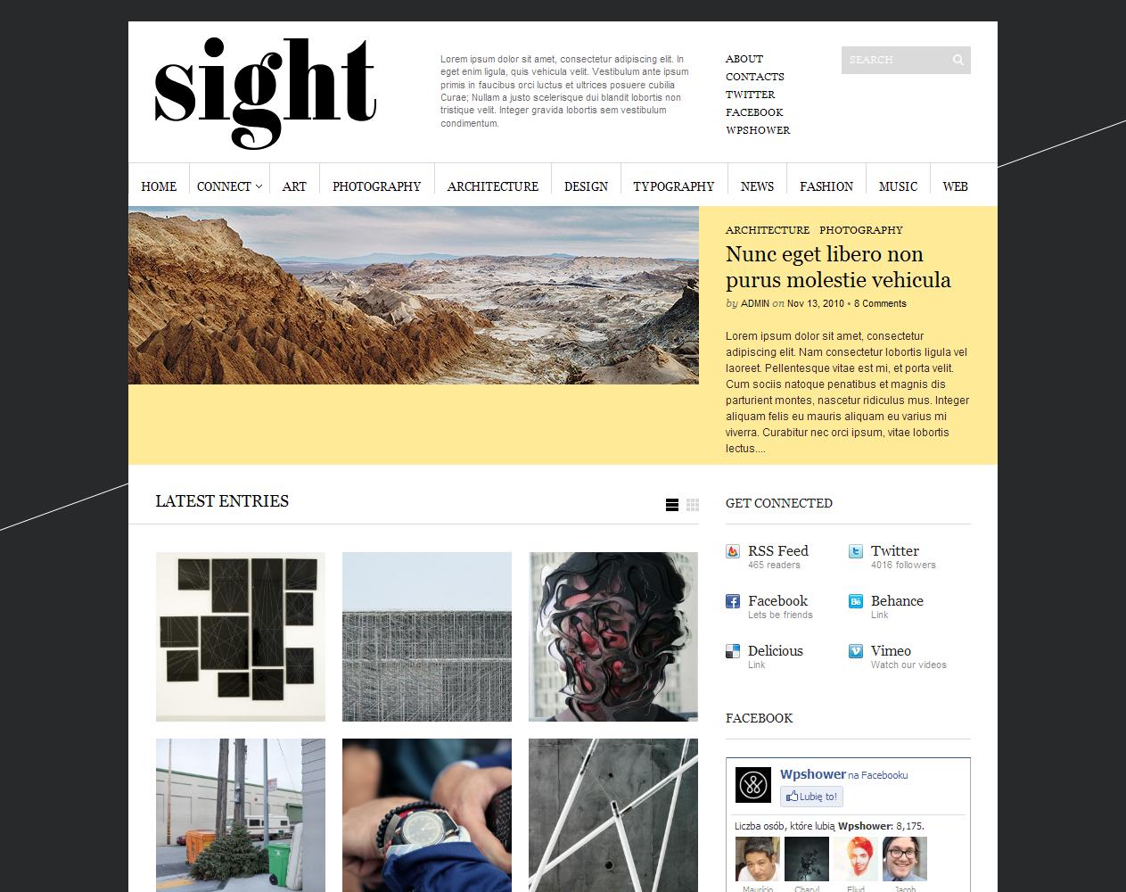 Sight skórka do WordPressa