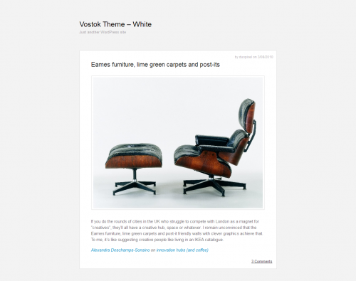 Vostok WordPress Theme