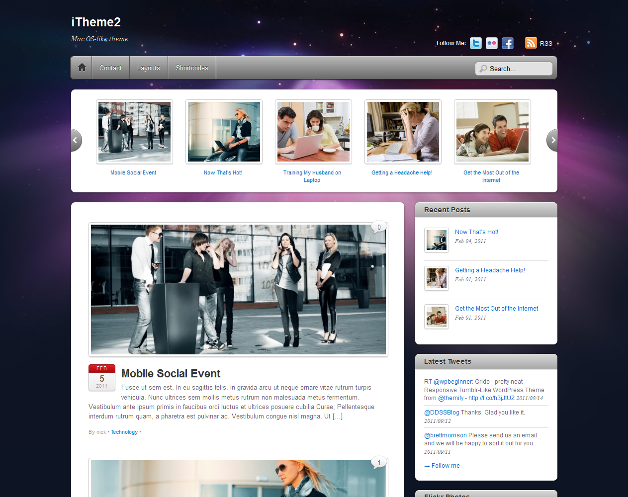 iTheme2 WordPress theme