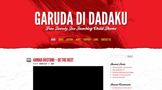 Skórka do systemu WordPress Garuda Di Dadaku