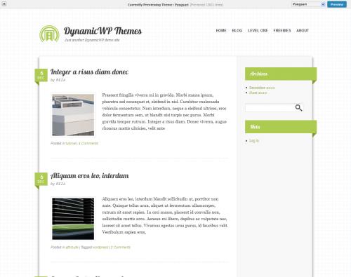 Skórka do systemu WordPress - Pongsari