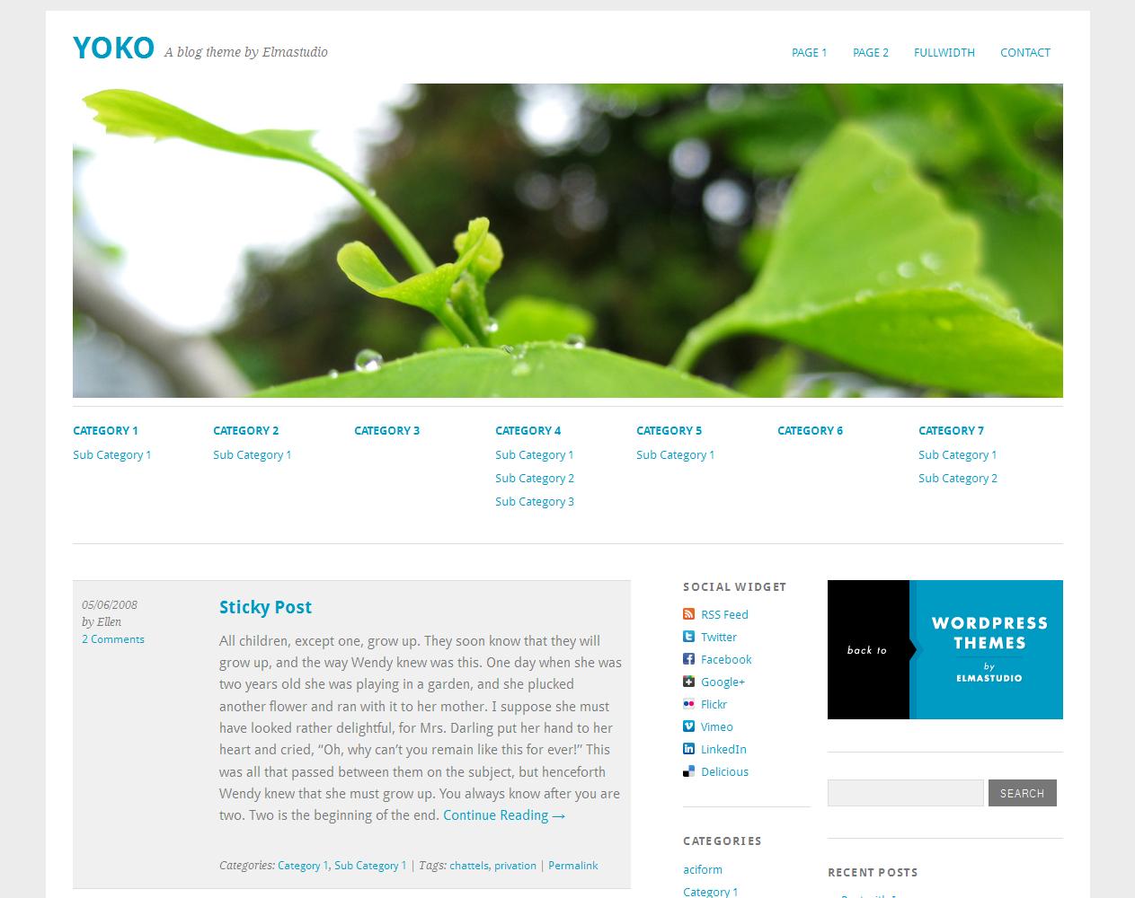 Motyw do systemu WordPress - Yoko
