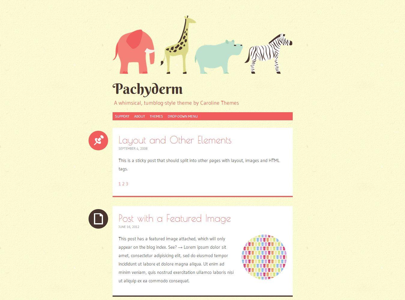 Pachyderm - A whimsical, tumblog-style theme