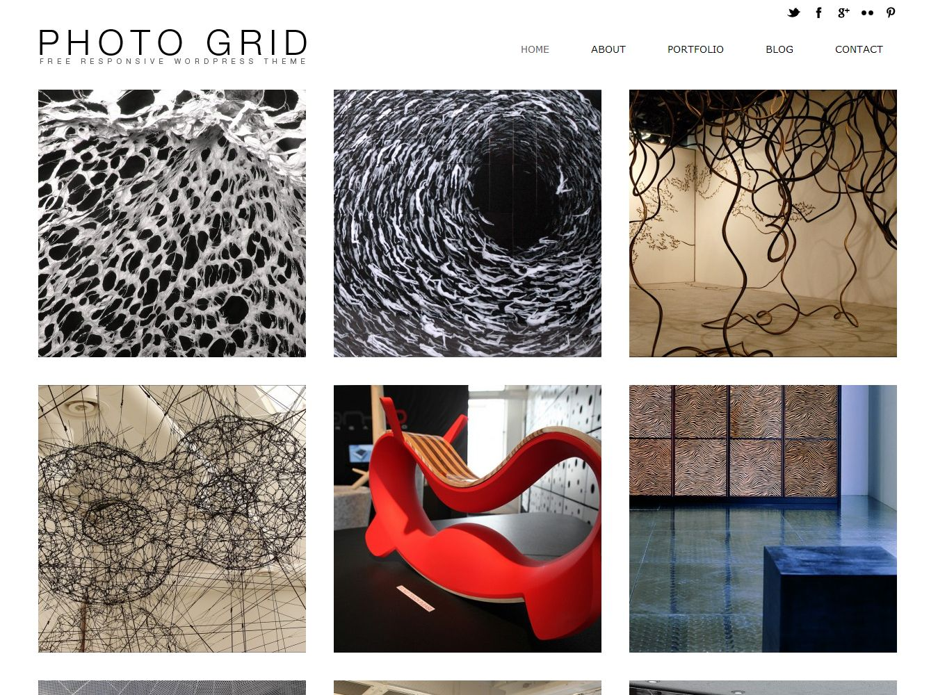 Photo Grid Theme WordPress Responsive