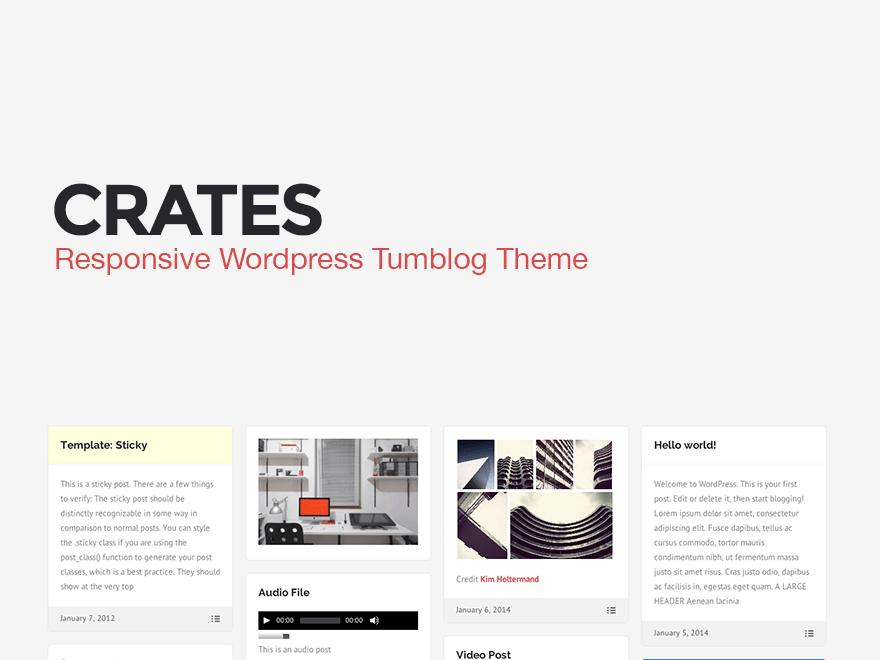 Crates   Crates is a responsive tumblog