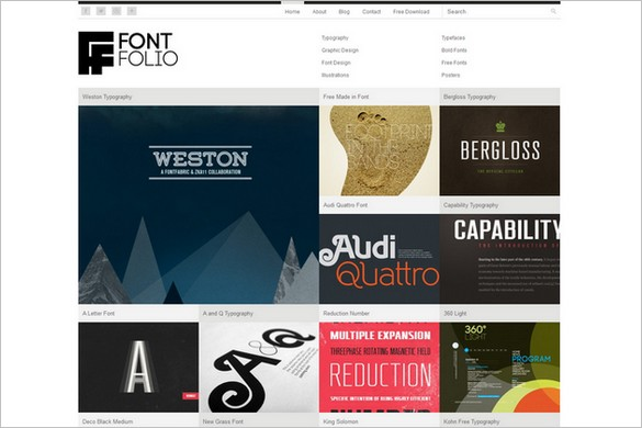 FontFolio Theme Free WordPress Theme