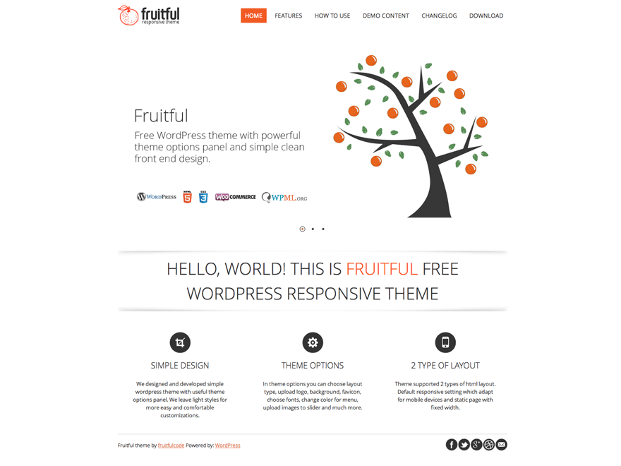 Wordpress Theme - Fruitfull