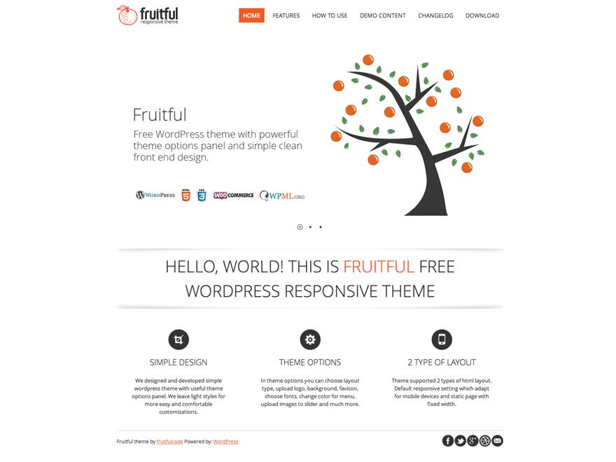 Wordpress Theme - Fruitfull