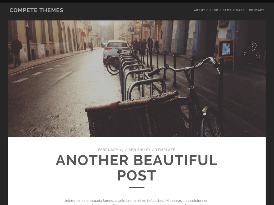 Tracks - WordPress Theme